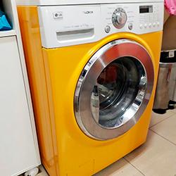 Envelopamento de máquina de Lavar Roupa com Amarelo em São Paulo