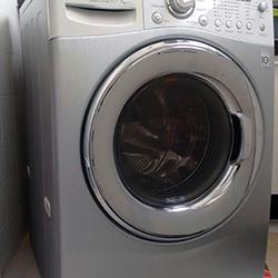 Envelopamento e máquina de lavar roupa com Aço Escovado