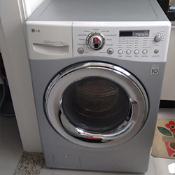 Envelopamento e máquina de lavar roupa com Aço Escovado em SP