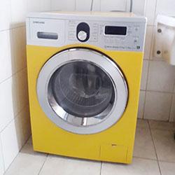 Envelopamento de máquina de lavar roupa com Amarelo - São Paulo
