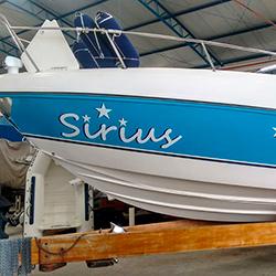 Envelopamento de barco para SP