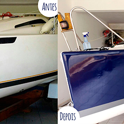 Envelopamento de veleiro em Mairinque - Antes e Depois